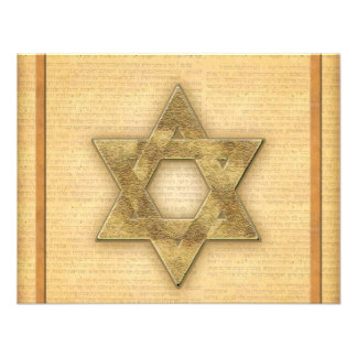 DIY Gold Star of David / Bar Mitzvah template Personalized Invite