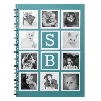 DIY Instagram 10 Photos and Initials Personalized Spiral Notebooks