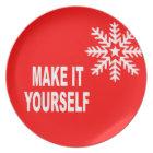 DIY Make It Yourself Christmas Snowflake Plate