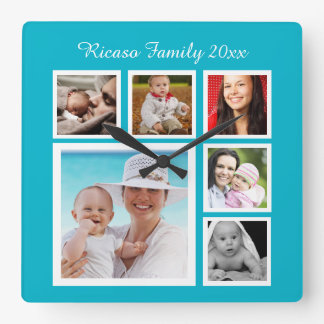 DIY Make Your Own Photo Collage Template Clock