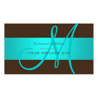 DIY monogram + background color Pack Of Standard Business Cards