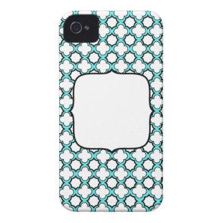 DIY MONOGRAM Blackberry Case/cover - aqua Case-Mate iPhone 4 Case