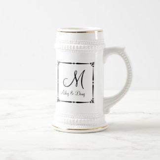 DIY Monogram template with decorative border Mugs