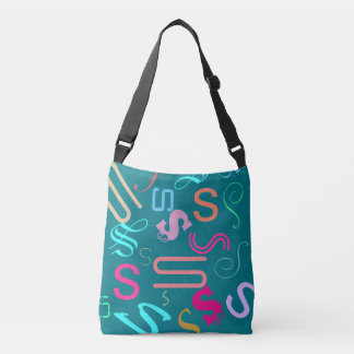 DIY Monogram Word Cloud Crossbody Bag