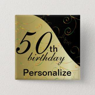 DIY Name & Age Birthday 15 Cm Square Badge