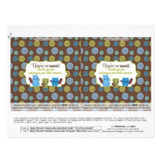 DIY Peek a Boo Monsters 1.55oz Candy Bar Wrappers