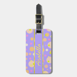 DIY Personalized Girl Polkadots Luggage Tag