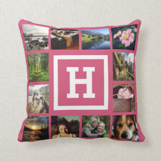 DIY Pink Girly 24 Photos Custom Instagram Cushion