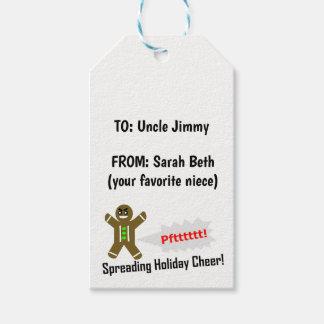 DIY print on Christmas Present Tags - Add Text!