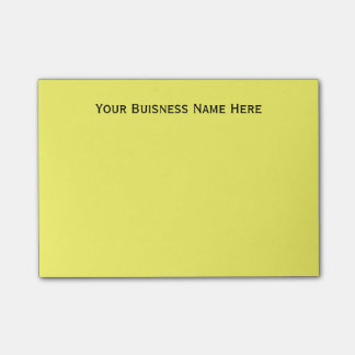 DIY Simple Personalized Business Name Custom Color Post-it Notes