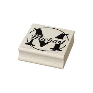 DIY - Simply Monogram / Name Rubber Stamp