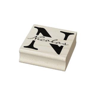 DIY - Simply Monogram / Name Rubber Stamp