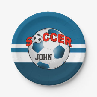 DIY Soccer Ball CHOOSE YOUR BACKGROUND COLOR Paper Plate