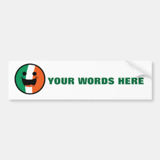 DIY St Patrick Irish Flag Smiley Face Hooligan Bumper Sticker