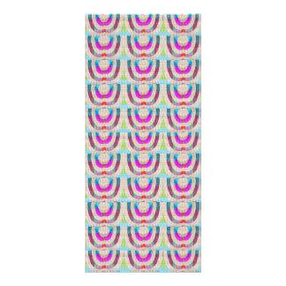 DIY TEMPLATE 1 side blank UNIQUE GRAPHIC PORTFOLIO Personalised Rack Card