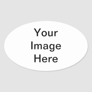 DIY Templates easy add TEXT PHOTO bulk pricing Oval Sticker