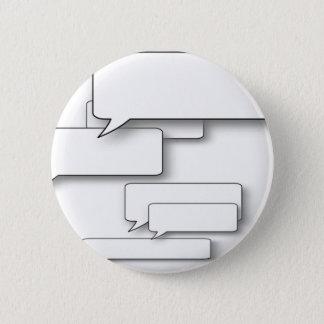 DIY Text - Custom Cartoon Speach Bubble Dialogue 6 Cm Round Badge