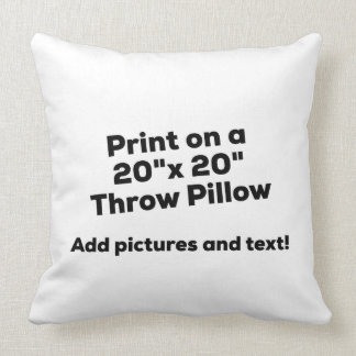 DIY - THROW PILLOW - Add Pics and Text
