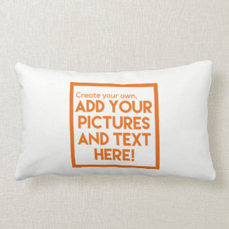 DIY - Throw Pillows!   Add text and pictures! Lumbar Pillow