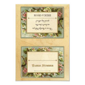 DIY Vintage Apple Blossom, Tea Stained Typography 9 Cm X 13 Cm Invitation Card