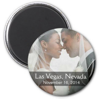 DIY Wedding Photo Round Keepsake Favor Magnet