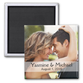 DIY Wedding Photo Square Keepsake Favor Magnet