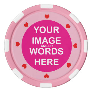 DIY ~ Wedding Red Hearts Poker Chips