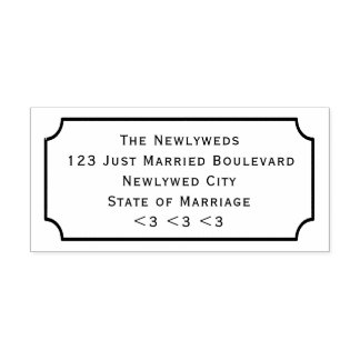 DIY Wedding Return Address Chalkboard Frame Style Self-inking Stamp