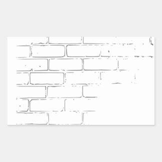 DIY White Brick Wall to write Graffiti Rectangle Sticker