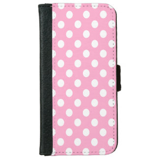 DIY White Polka Dots on Any Color iPhone 6 Wallet Case