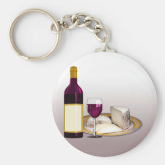 DIY WINE BOTTLE LABEL, WINE GLASS, CHEESE PERSONAL KEY RING
