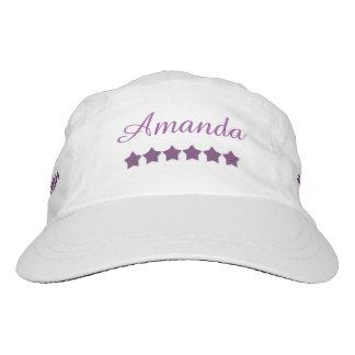 DIY Woven Performance Hat PURPLE STARS Custom A04