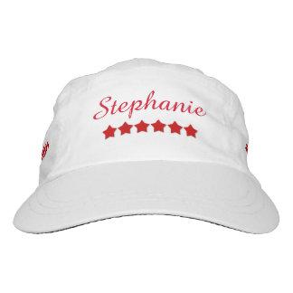 DIY Woven Performance Hat RED STARS Custom A02