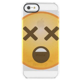 Dizzy Emoji Clear iPhone SE/5/5s Case