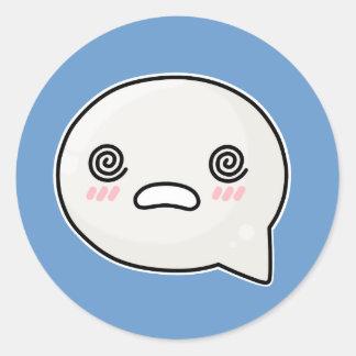 Dizzy Face Sad Round Sticker