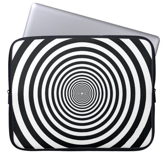 dizzy illusion black and white art vo22 laptop sleeve