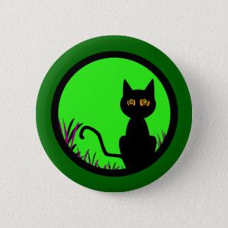 Dizzy Moon Cat 6 Cm Round Badge