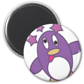 Dizzy Penguin 6 Cm Round Magnet