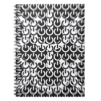 Dizzy with Power Black White Spiral Notebooks