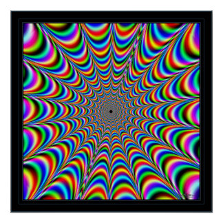 Dizzying Color Spider Web Poster