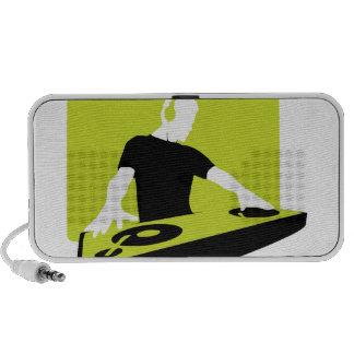 dj-311764 dj disc jockey green black deck records notebook speaker