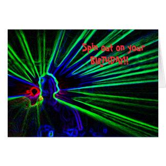 DJ and Laser Lights birthday card