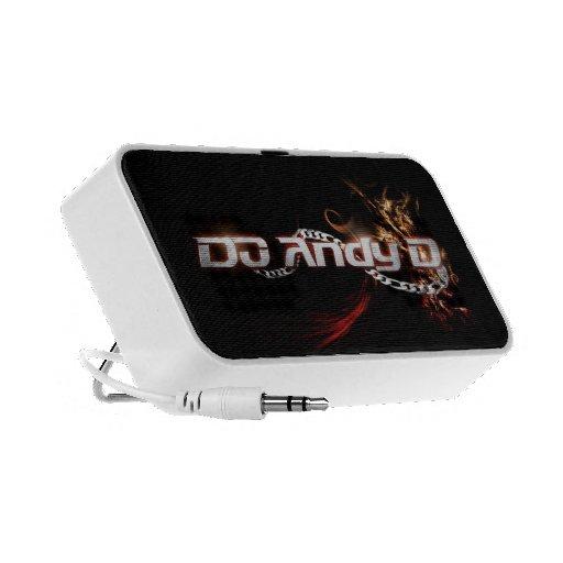 DJ Andy D Portable Speakers (Firey Logo)