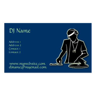 DJ at Work! Pack Of Standard Business Cards