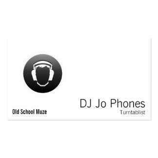 DJ Black Button Headphones Pack Of Standard Business Cards
