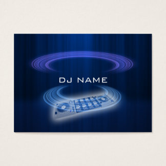 dj blue business card