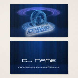 DJ blue head Business Card