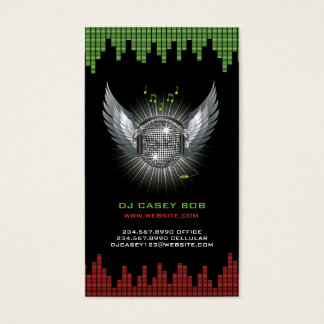 Club dj business cards business card printing zazzle dj business card reheart Choice Image