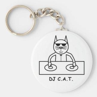 DJ C.A.T. Button Key Ring