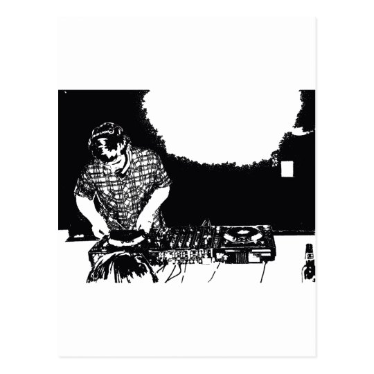 DJ Carson Postcard